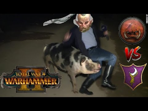 THE RUNNING OF THE HOG | Greenskins vs Dark Elves - Total War Warhammer 2