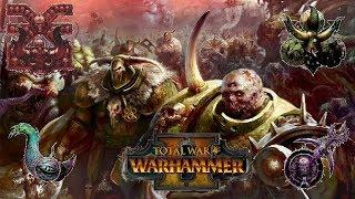Nurgle, Khorne, Slaanesh & Tzeentch | Free-For-All Battle of the Chaos Gods - Total War Warhammer 2