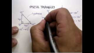Radical Expressions: Special Triangles 30-60-90 And 45-45-90.avi