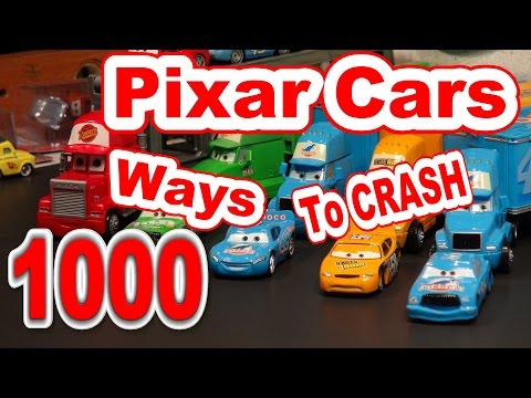 Pixar Cars 1000 Ways To Crash , Lightning McQueen, Screaming Banshee And More With New Footage !!