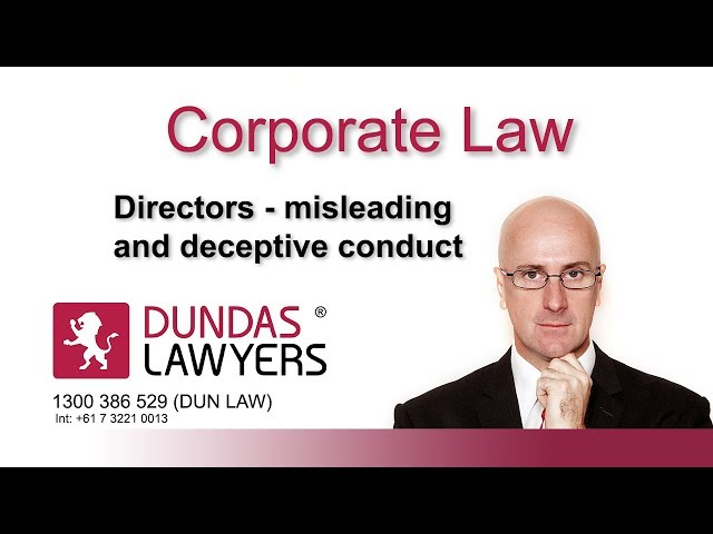 Directors personal liability for misleading and deceptive conduct