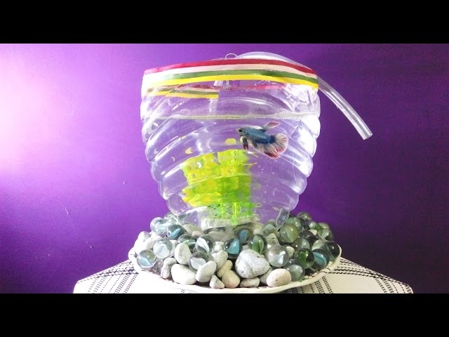 DIY BIG Aquarium of plastic bottle || CrazyIndianHacker