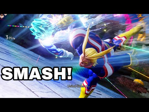 UNITED STATES OF SMASH! All Might Jump Force Online Ranked Gameplay! DLC 1