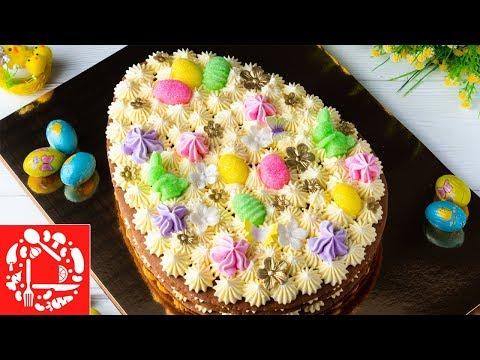 Как приготовить торт медовик в виде пасхального яйца