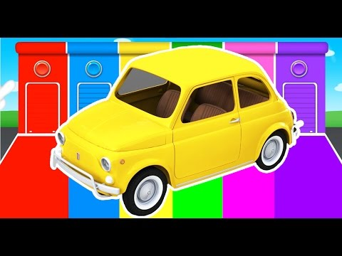 Cars Colors for Children - Learn Vechicles in Learning Educational Video - Kids Nursery Rhymes