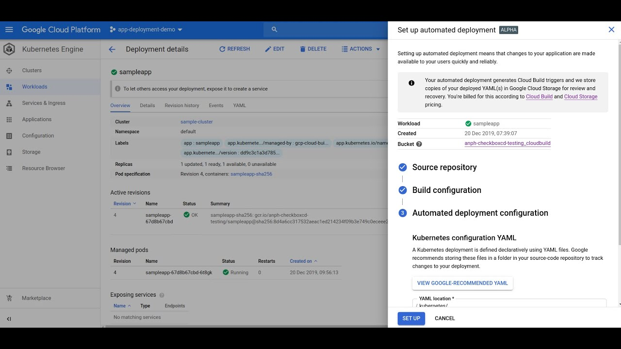 A lightning introduction to automated deployment for Google Kubernetes Engine: create simple deployment pipelines for your GKE workloads with a few clicks.