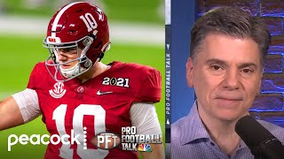 Mac Jones surpasses Justin Fields as 49ers' QB betting favorite | Pro Football Talk | NBC Sports