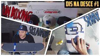 DIS NA DESCE #1 - Unboxing części, składanie skateboardu, sprayowanie deck'u!