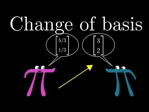 Change of basis   Chapter 13, Essence of linear algebra