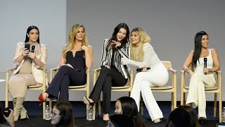 Kardashian and Jenner Sisters Argue Who Has the Best App Interview, Kim Khloe Kendall Kylie Kourtney