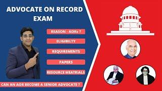 Advocate on Record I Meaning I Syllabus I Exam I Qualification I Supreme court of India I Legal Life