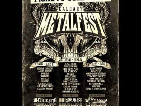 No More Moments Calgary Metal Fest 2012 promo