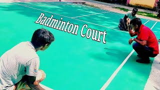 Making A Badminton Court || UNO Plays Amature Game