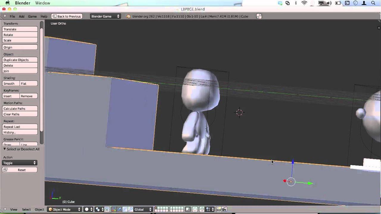 Blender Game Engine: Jeu de plateforme