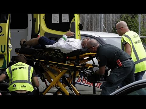 """Witnesses inside the Masjid Al Noor mosque in Christchurch describe the horrific scene when a gunman opened fire during Friday afternoon prayers.  One said there was 10 to 15 minutes of continuous shooting, """"He just shot all the people."""" (March 15)"""