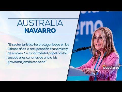 Australia Navarro destaca el papel del turismo en Canarias, sacando a la región de una grave crisis