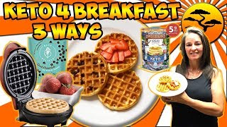 Chaffle Keto Breakfast 3 Ways ~ On Vacation? SURE WHY NOT!!!