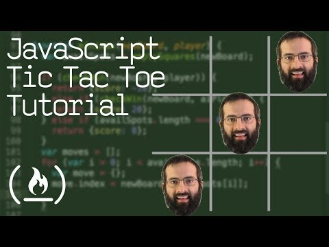 JavaScript Tic Tac Toe Project Tutorial  – Unbeatable AI w/ Minimax Algorithm