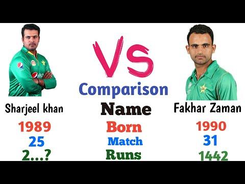 Fakhar Zaman Vs Sherjeel Khan Comparison  2019 | Who is Best