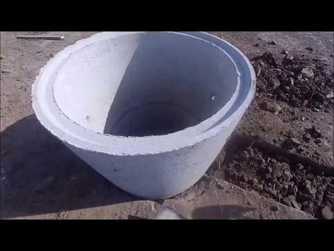 Монтаж автономной канализации из бетонных колец
