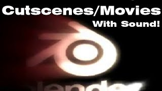 How to play cutscenes/movies in the Blender Game Engine! [HD]