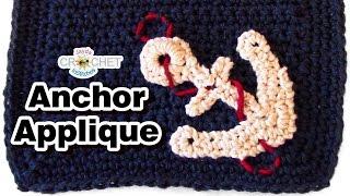 Crochet Anchor Applique Pattern & Tutorial