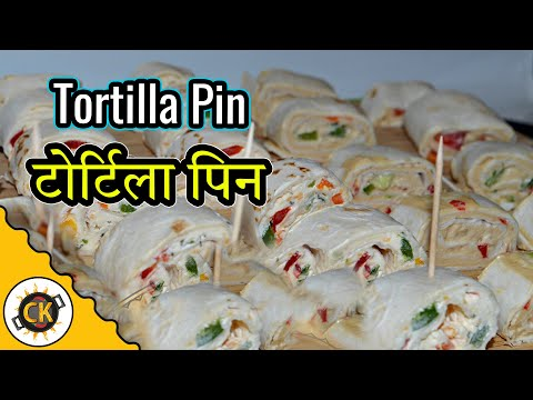 Pin Wheel (2 Types) Party Appetizer Recipe video by Chawlas-Kitchen.com Episode #256