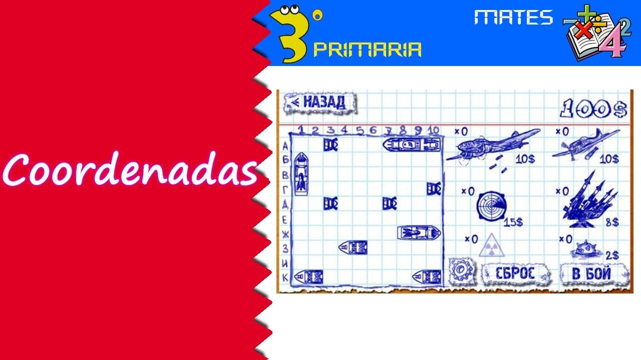Matemáticas. 3º Primaria. Tema 12. Coordenadas