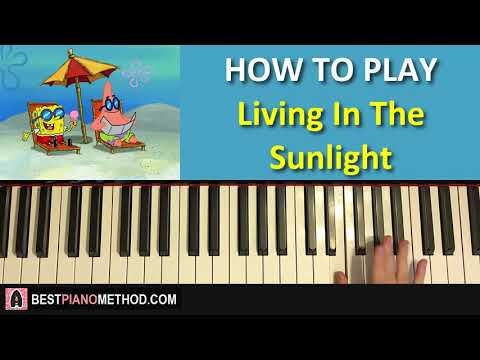 HOW TO PLAY - Spongebob Squarepants - Living In The Sunlight - Tiny Tim (Piano Tutorial Lesson) Mp3