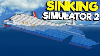 HOW THANOS MAKES A CRUISE SHIP DISAPPEAR!   Sinking Simulator 2 Gameplay