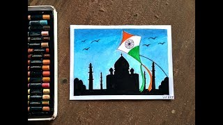 Republic Day Drawing Competition Pictures With Oil Pastels