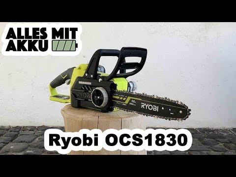 Ryobi OCS1830 Akku Kettensäge Test | ALLES MIT AKKU