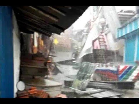 Por fuerte vendaval en Cartago, cuatro viviendas terminaron destruidas