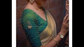 Most Beautiful  Mango Beads Design with Normal Stitching Needle-Same Like AARI/ Maggam Work Blouse