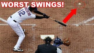 MLB | WORST SWINGS! (HUMILIATING) | 1080p HD