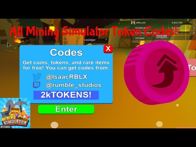 How To Get Free Tokens On Mining Simulator