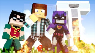 Minecraft : FOGO NA CASA DOS JOVENS TITÃS !!
