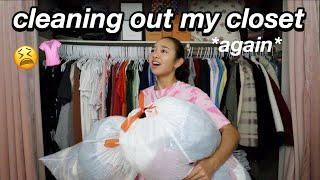 CLEANING OUT MY CLOSET *again* | Nicole Laeno