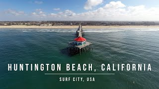 Huntington Beach Surf City by Drone during Quarantine (March 2020)