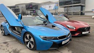 BMW i8 vs Mercedes AMG GT S    Каха или Чуня?