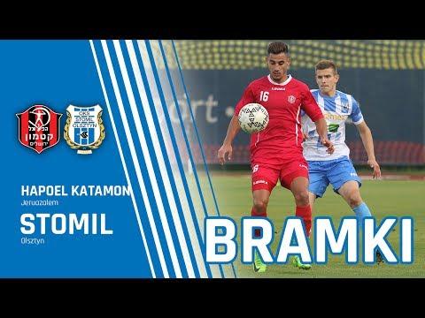 Bramki z meczu Stomil Olsztyn - Hapoel Katamon Jerozolima 2:1