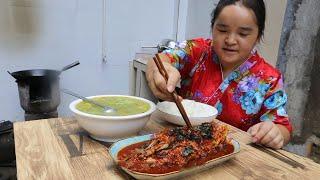 苗大姐家隔壁大爷送来河鱼,整俩菜,吃得太香鱼太少