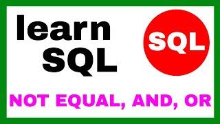 SQL NOT EQUAL