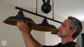 Westinghouse Pulley Light Fixture Installation Overview