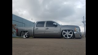 Bagged Silverado Intro Wheels Tub Work, Notch Cover, Dimple Dies, Bed Liner, Accuair