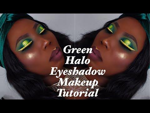 Green Halo Eyeshadow Makeup Tutorial