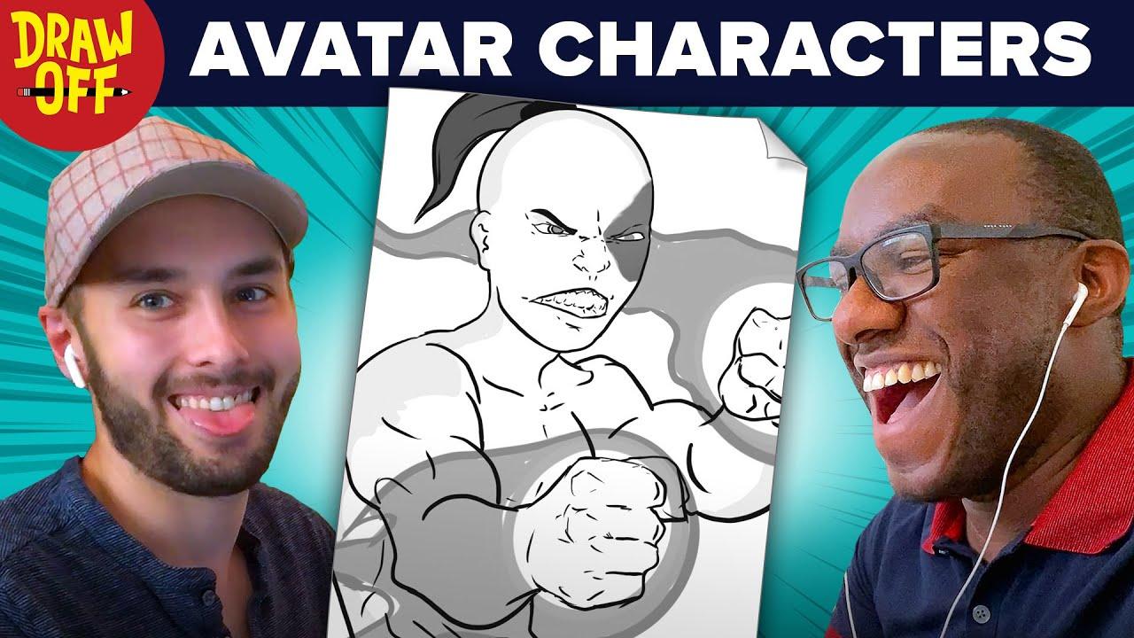 Animator vs. Cartoonist Draw Avatar TLA Characters From Memory • Draw-Off thumbnail