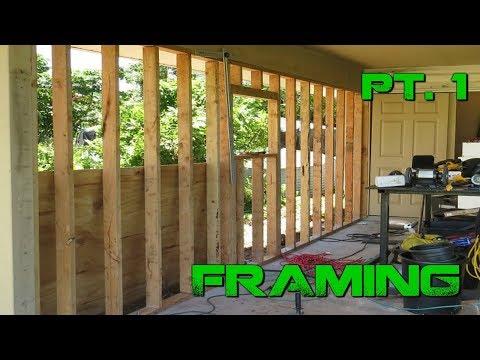 Turning a Carport Into an Enclosed Garage-  DIY Framing| Pt. 1