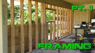 Turning a Carport Into an Enclosed Garage-  DIY Framing  Pt. 1