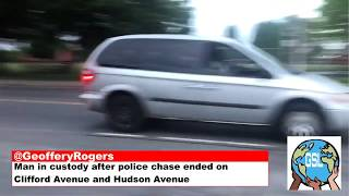 Man in custody after police chase ended on Clifford Avenue and Hudson Avenue